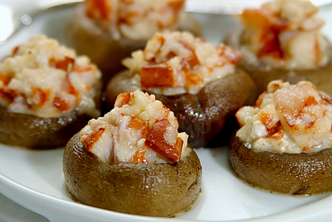 Clearwater Lobster Stuffed Mushroom Caps